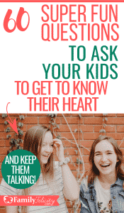These super fun questions to ask your kids will keep the fun and conversation going! Perfect for young kids and older teens too! #kidsandparenting #parenting #parentingtips #momlife