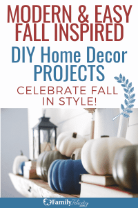 These simple and gorgeous Fall inspired DIY home decor projects are the perfect way to celebrate the season with style! #DIY #homedecor #decor #crafts #crafting