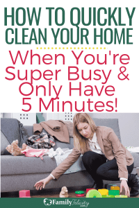 When your days are super busy and you only have a few minutes to spare, you can still have a clean house! These high-reward cleaning tasks will help you do it! #cleaning #home #DIY #organization
