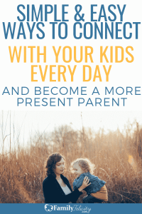These simple and easy to do tips will help you connect more with your kids and help you avoid the trap of distracted parenting. #kidsandparenting #parenting #kids #momadvice #adviceformom