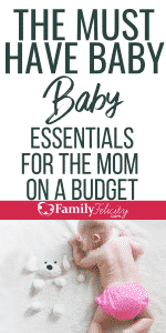 This list shares the must-have baby stuff you can't live without as a new mom. Plus, it's only the most essential items perfect for the minimalist mom on a budget. #pregnancy #baby #momlife #kidsandparenting #parenting #babies