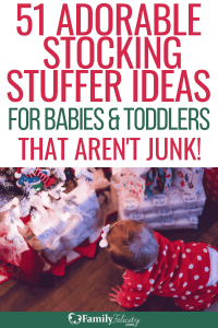 Christmas season is almost here and this list is full of awesome stocking stuffer ideas for toddlers and babies. Best of all, every ideas is NOT junk and under $10! #kidsandparenting #parenting #babies #toddler #Chrstimas