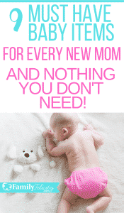 This list of baby products is everything a new mom must have and nothing she doesn't need. Baby essentials list for new moms! #pregnancy #parenting #babies