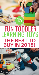 These educational learning toys for toddlers are the best of list for 2018! The best toys to buy for Christmas 2018. #kidsandparenting #parenting #parenting101 #kids #christmas