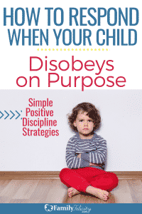 There is a right and easier way to respond to your child's disobedience. There are also surprising causes of child disobedience. Try these positive discipline strategies when your kids don't listen. #positivediscipline #parenting #positiveparenting #kidsandparenting