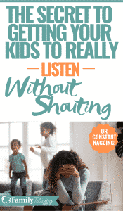Ever wonder how to get your kids to hear you without yelling? I know, it's frustrating! But this simple strategy really helps to get your kids to listen without screaming. You have to work it, but it really works! Put it to the test with your kids! #kidsandparenting #parenting