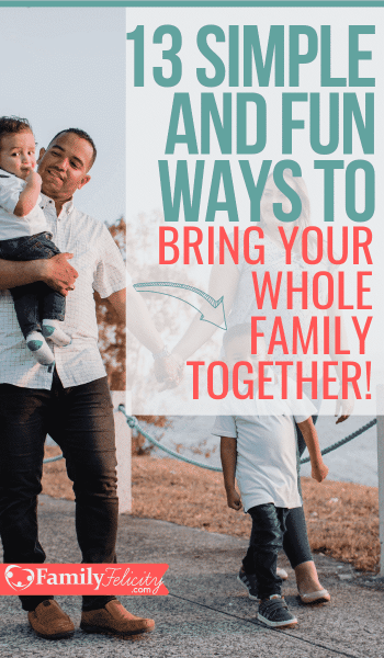 Finding time to spend together as a family can be challenging for busy families. Here are the most simple ways to easily bring your whole family together! #family #kidsandparenting
