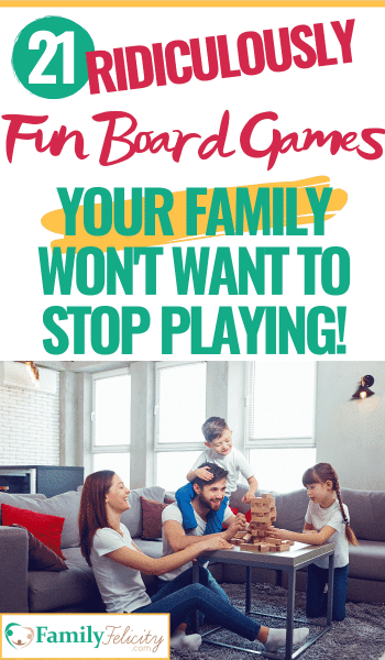 These fun board games are the perfect games for families. And the list is broken down by ages and one all-together family list! Your kids won't want to stop playing! #boardgames #familytime #parenting