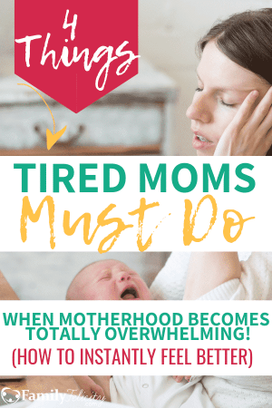 Mom burn out is real and when you feel totally overwhelmed as a mom, these are 4 things you must do right now to keep your sanity and renew your mind! #momlife #motherhood #newmom