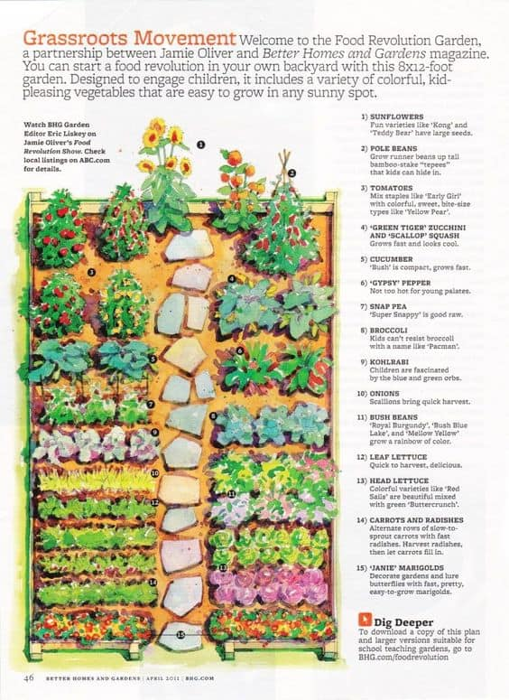 Kitchen Garden Designs, Plans + Layouts 2020 | Family Food ... on Backyard Layout Planner  id=93707