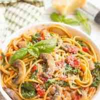 One-pot vegetarian spaghetti (+ video)