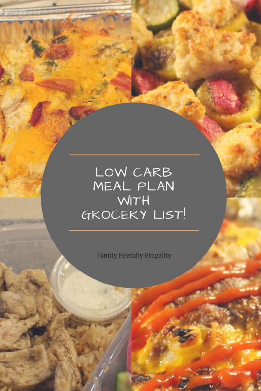 My Low Carb Meal Plan With Grocery List Week 1 Keto