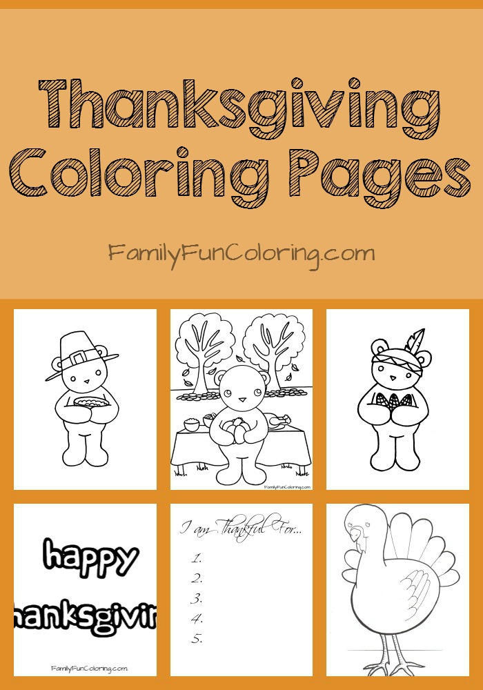 Free Printable Thanksgiving Coloring Pages FamilyFunColoring