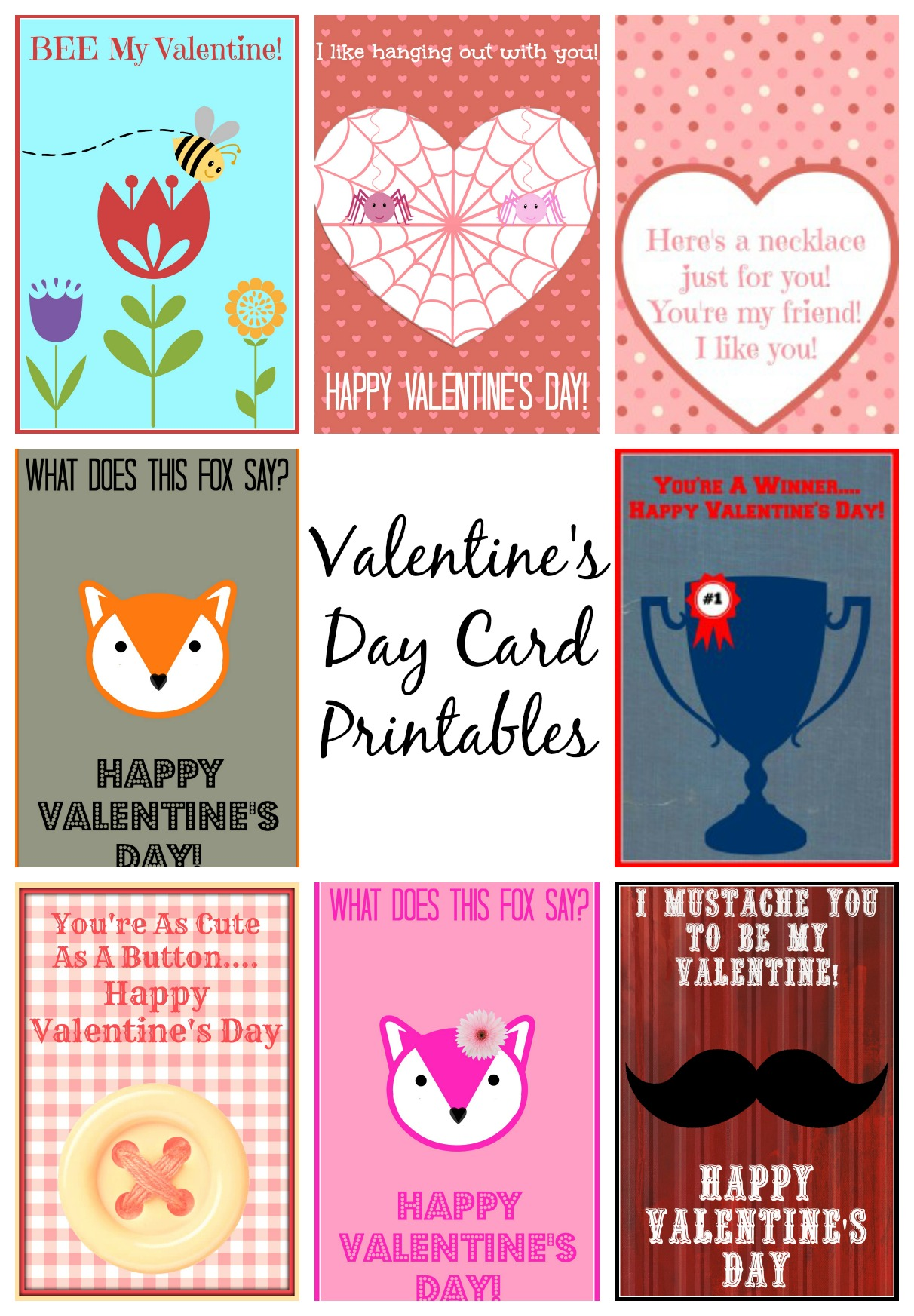 Valentine S Day Card Printables