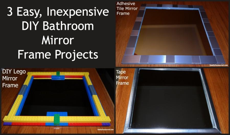 three diy bathroom mirror frames - family fun journal
