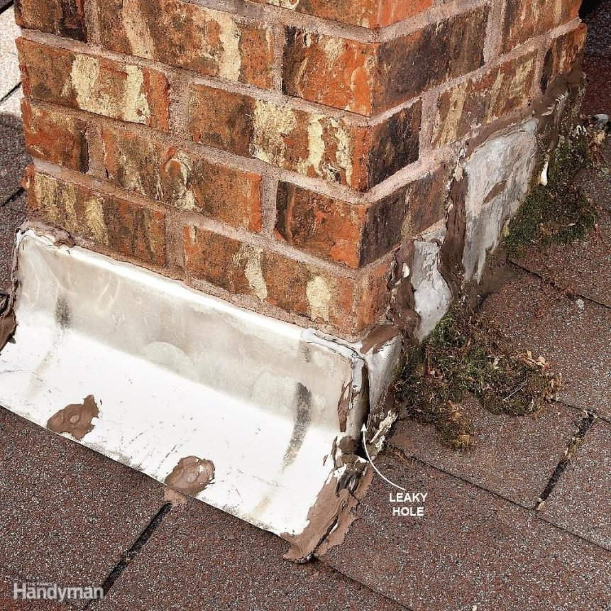 Leaks Around Brick Chimneys  12 Roof Repair Tips: Find and Fix a Leaking Roof FH09JAU FIXROO 14
