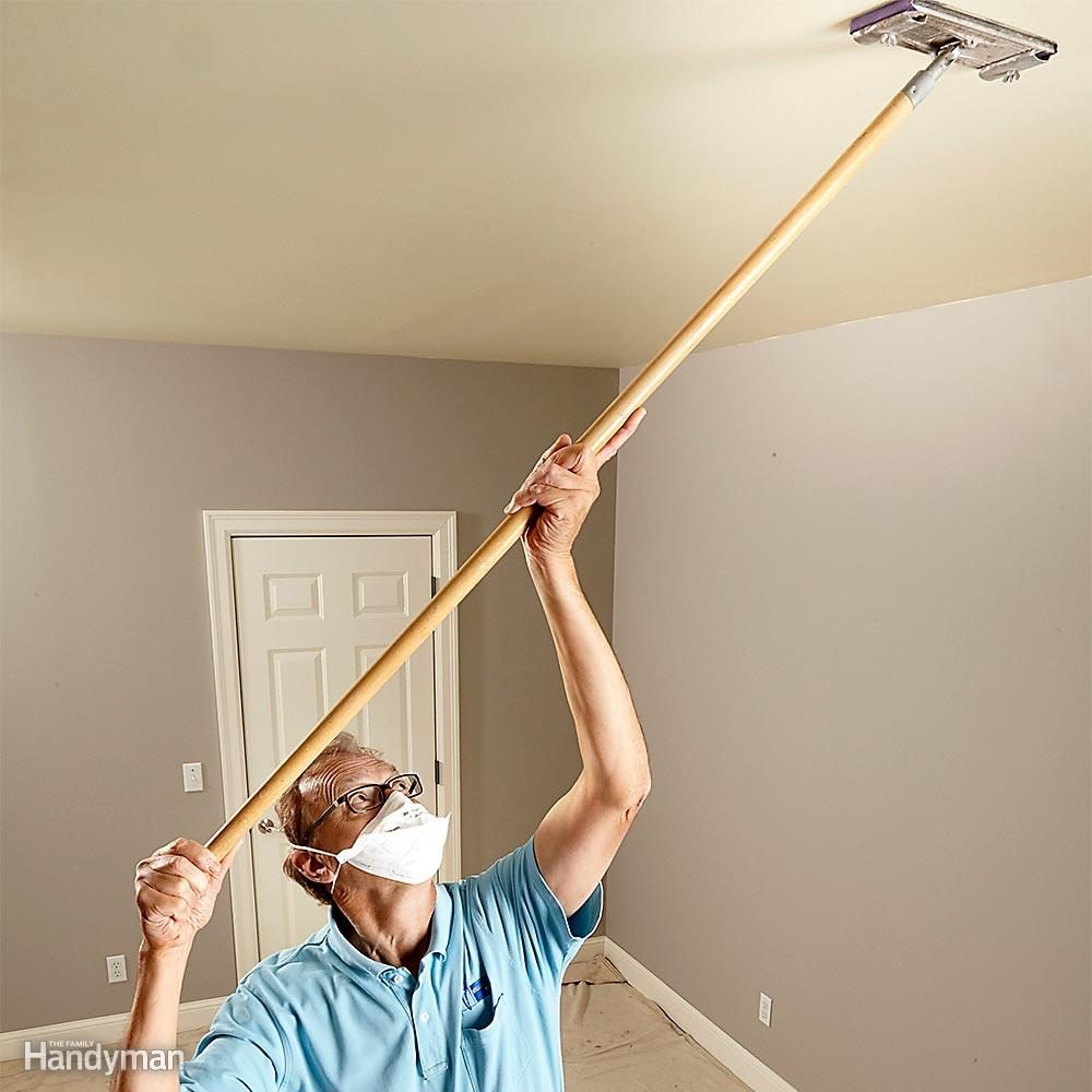 How To Paint A Ceiling The Family Handyman