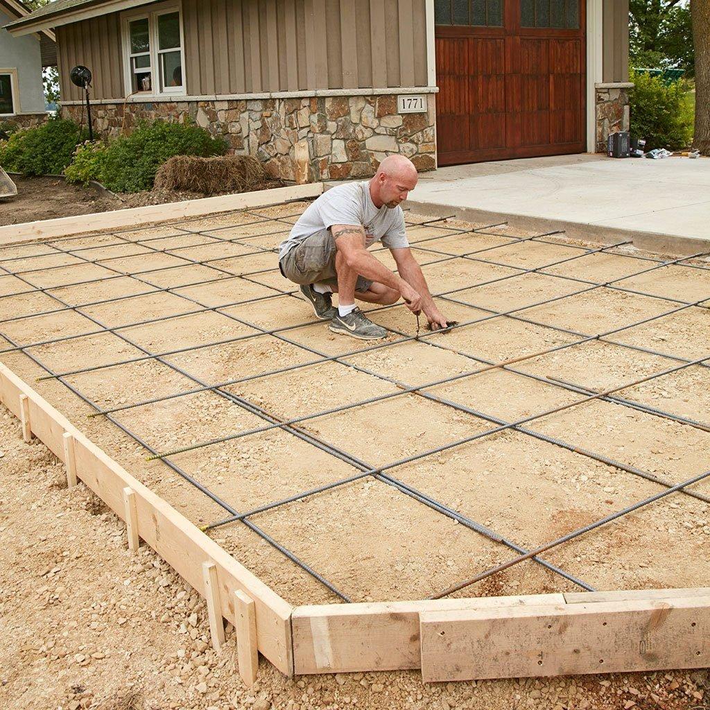 how to prepare a site for concrete