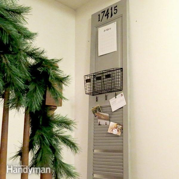 Easy To Build Diy Mail Organizer The Family Handyman
