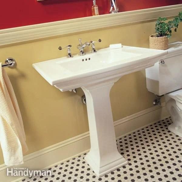 how to plumb a pedestal sink diy