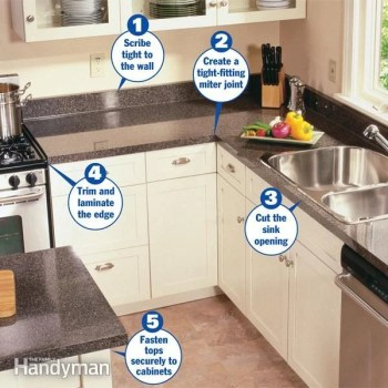 how to install a countertop diy