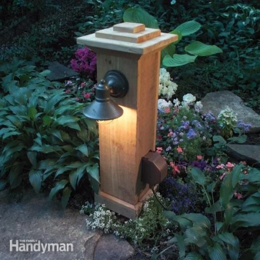 to install outdoor lighting and outlet