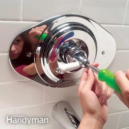 to replace a two handle shower valve
