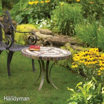 build an outdoor table with tile top