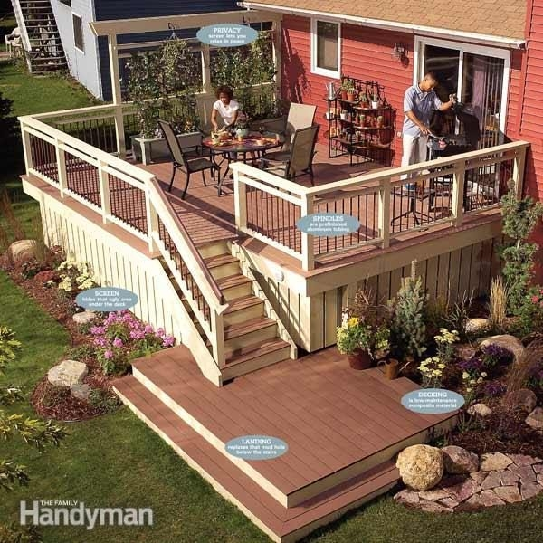 Rebuild An Old Deck With New Decking And Railings Family Handyman | Pressure Treated Stair Handrail | Sturdy | Step | Deck Rail | Long Deck | Treated Lumber