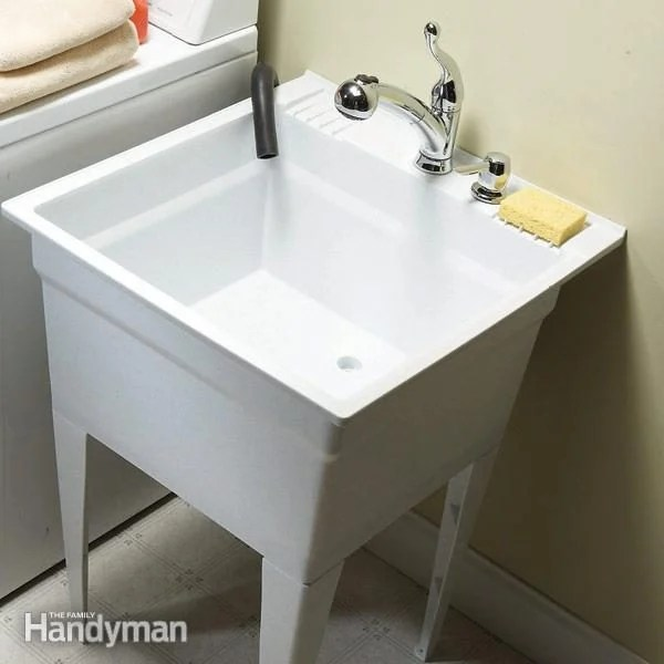upgrade your laundry sink diy