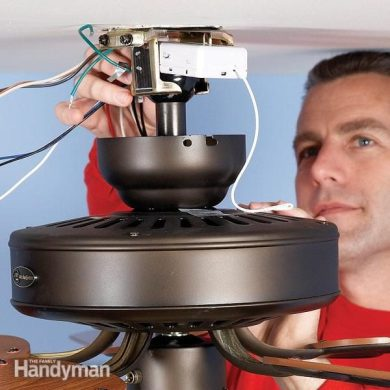 How to Install a Ceiling Fan Remote   The Family Handyman Upgrade your fan with a ceiling fan remote