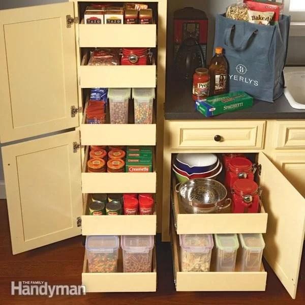 Kitchen Storage Pull Out Pantry Shelves Diy Family Handyman