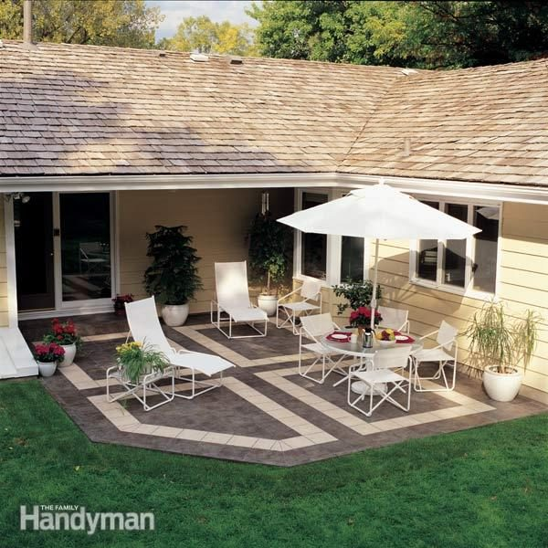 how to build a patio with ceramic tile