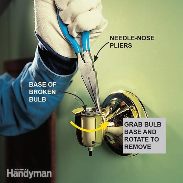 Remove Broken Light Bulb Socket