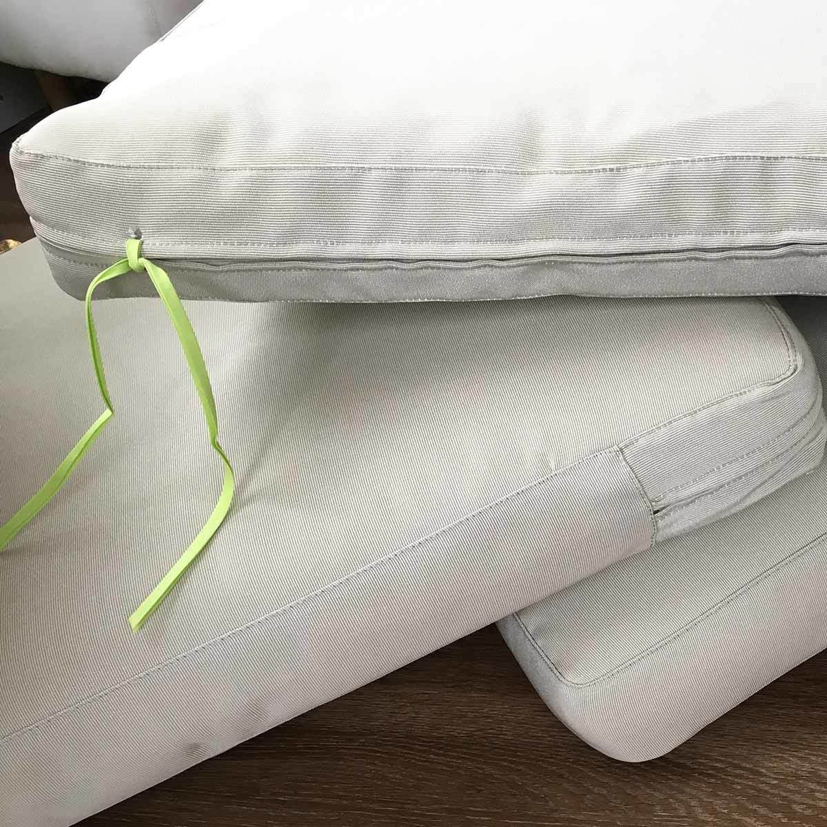 how to stop cushions slipping on rattan