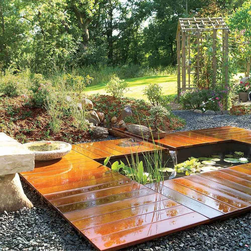 Pond, Fountain and Waterfall Projects You Can DIY   Family ... on Yard Ponds Ideas id=21303