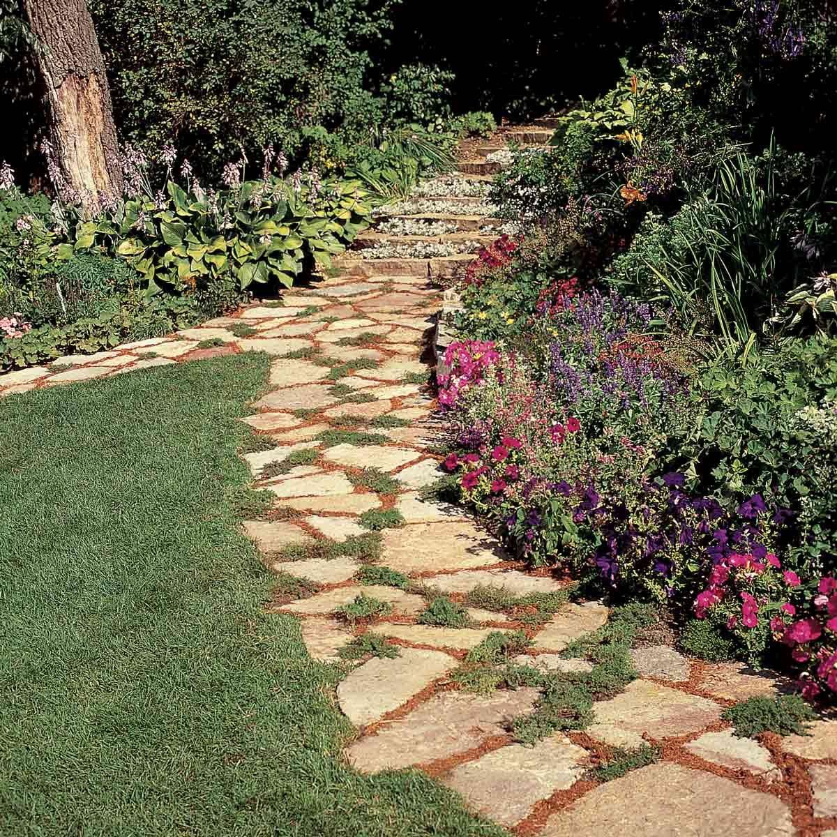 Affordable Garden Path Ideas | The Family Handyman on Stepping Stone Patio Ideas  id=91936