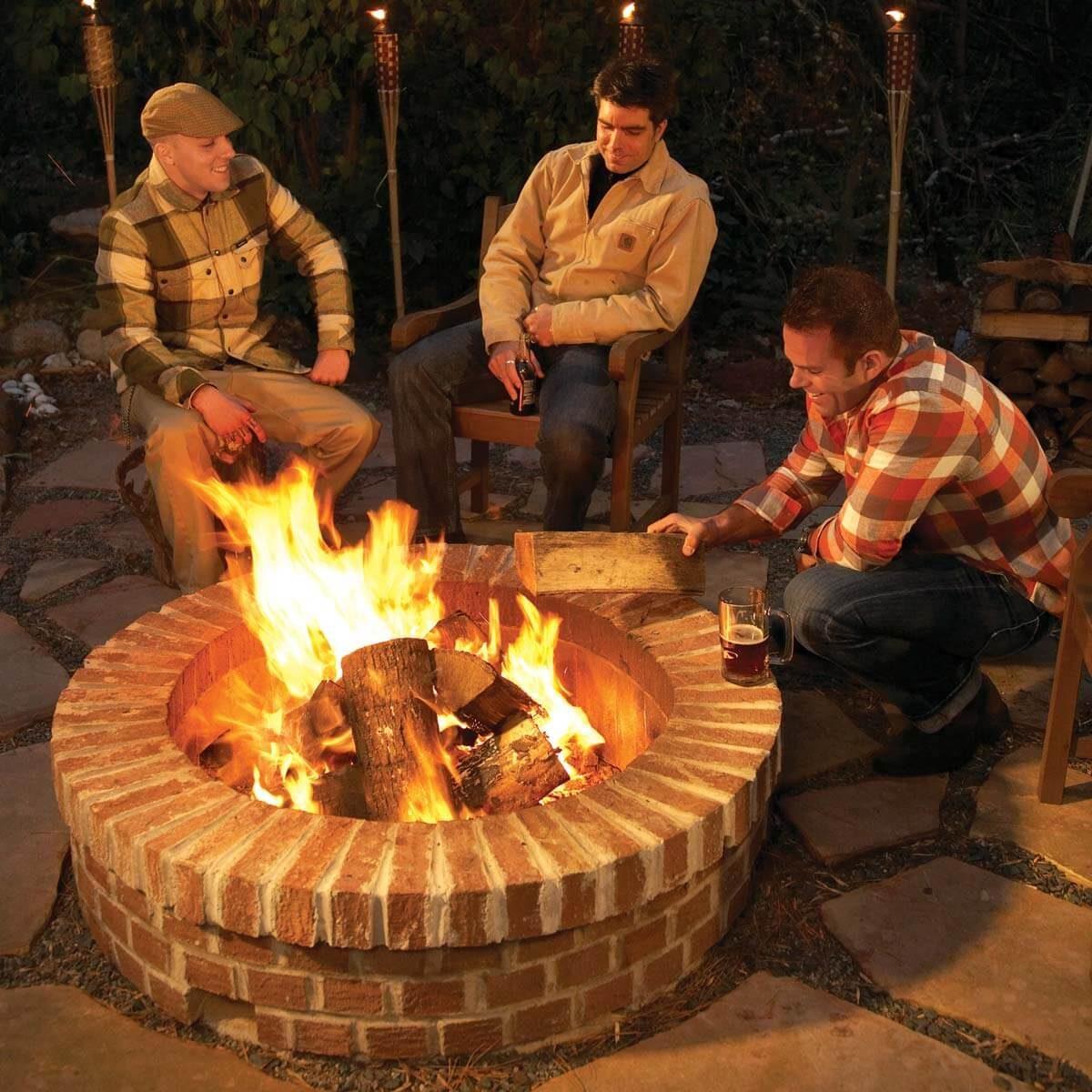 12 Great Backyard Fire Pit Ideas | The Family Handyman on Fireplace In Yard id=50515