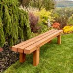 How To Make Simple Timber Bench Diy Family Handyman