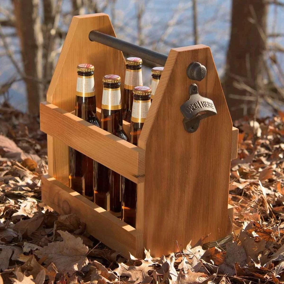 Diy Reclaimed Barn Wood Beer Caddy Make This Wooden Beer
