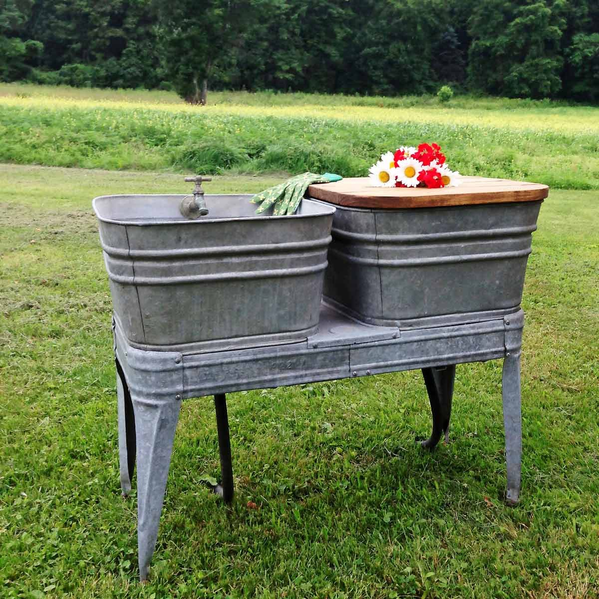 All Washed Up DIY Outdoor Sink — The Family Handyman on Outdoor Patio Sink id=59940