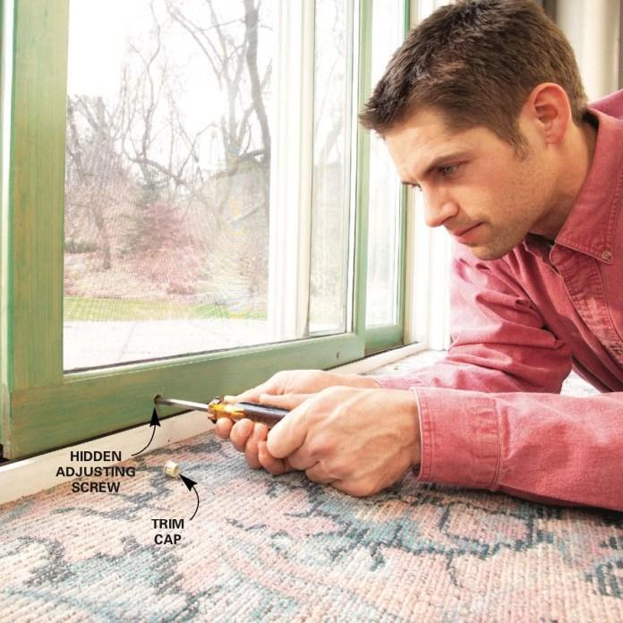 how to repair a sliding door diy