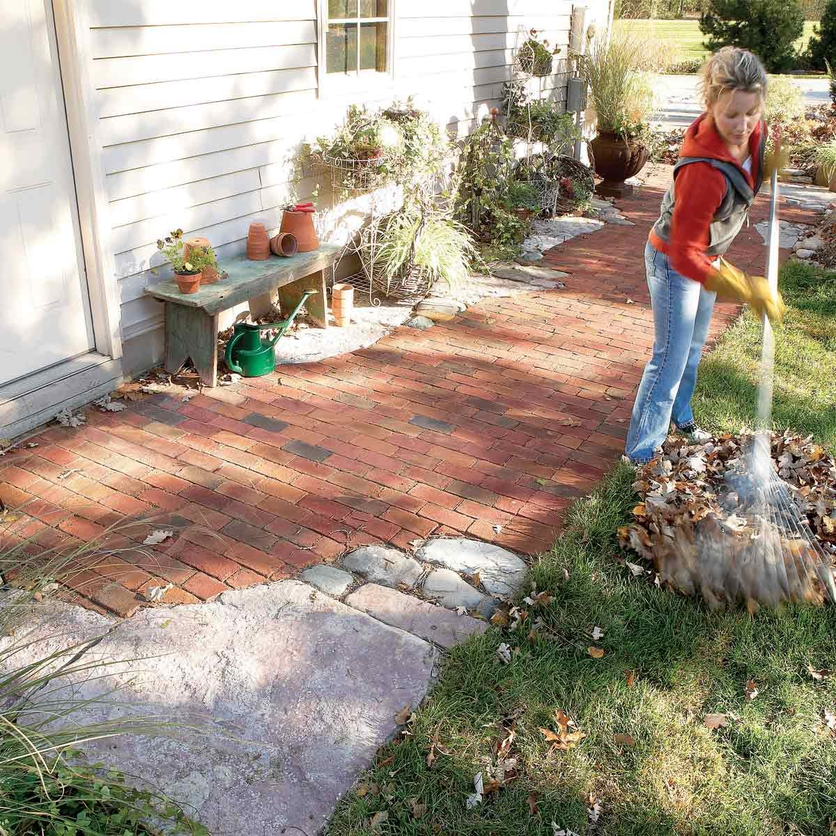 how to build pathways brick and stone
