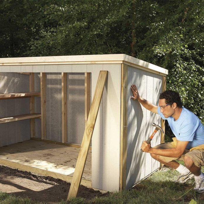 outdoor storage locker plans