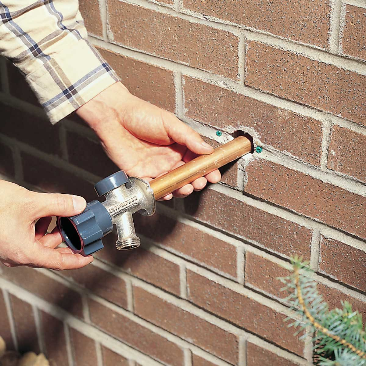 to install a frost proof outdoor faucet