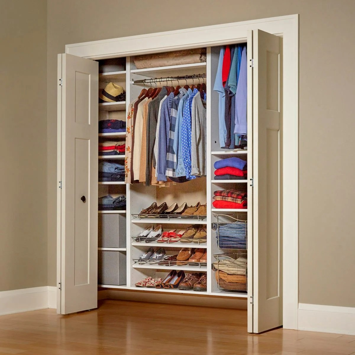 Build Your Own Melamine Closet Organizer Family Handyman