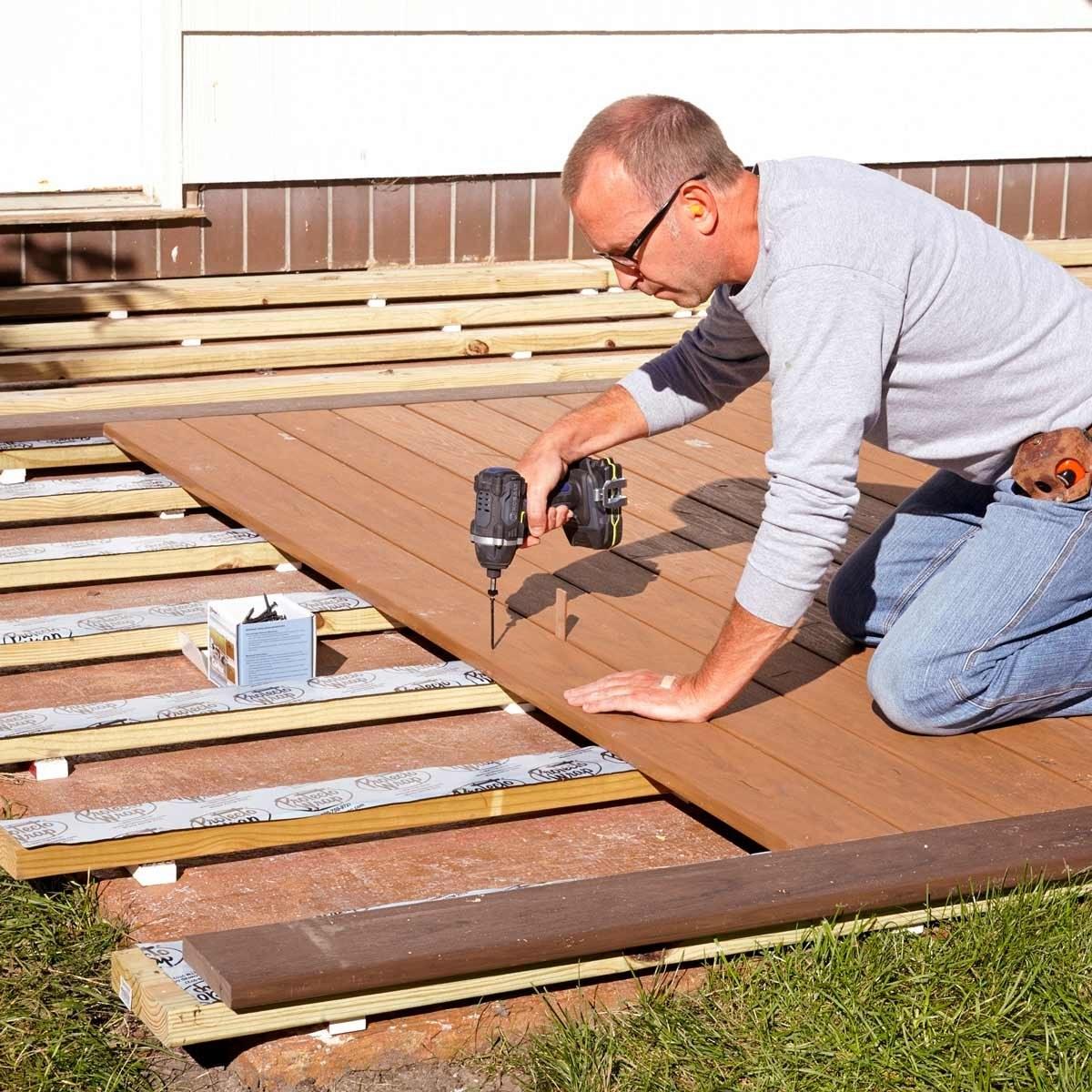 How To Build A Deck Over A Concrete Patio | Wood Deck Over Concrete Steps | Extension | Front | Back Deck | Cover Concrete | Solid Deck