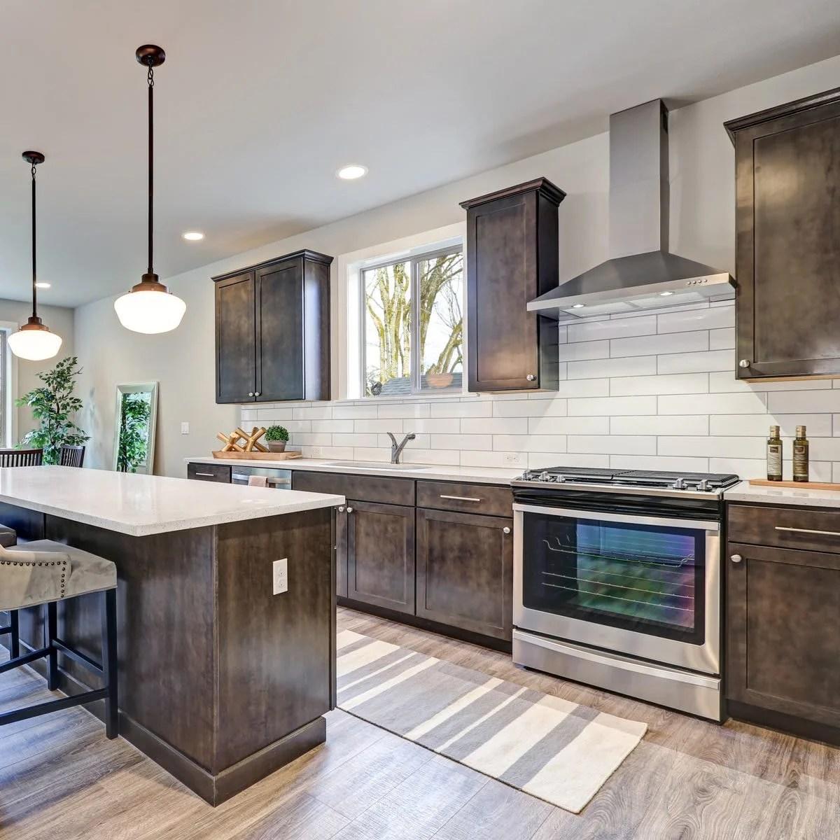 Best Kitchen Backsplash Ideas For Dark Cabinets | Family ... on Backsplash For Dark Countertops  id=40125