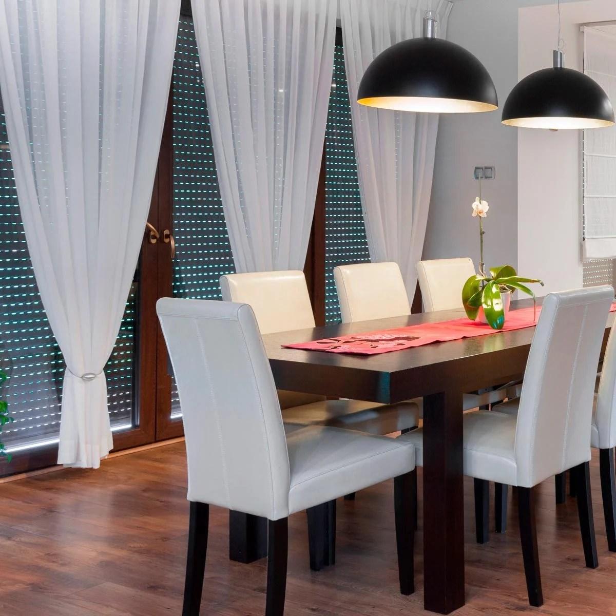 Stylish Dining Room Curtain Ideas | Family Handyman on Dining Room Curtain Ideas  id=53045