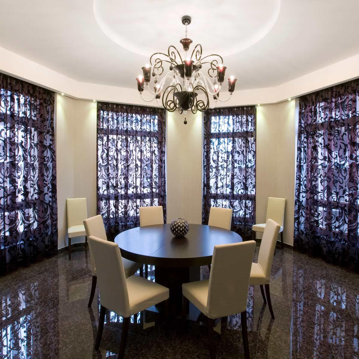 Stylish Dining Room Curtain Ideas | Family Handyman on Dining Room Curtain Ideas  id=35905